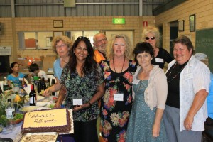 WAALC committee with 25th anniversary cake.